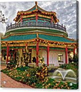 Pagoda In Norfolk Virginia Acrylic Print