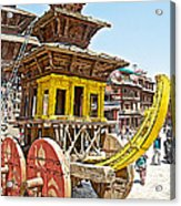 Pagoda-style Carriage In Bhaktapur Durbar Square In Bhaktapur-nepal Acrylic Print