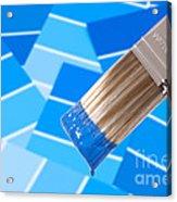 Paint Brush - Blue Acrylic Print