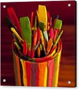 Paint Can And Paint Brushes Still Life Acrylic Print