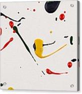Paint Drops Splash Paper Acrylic Print