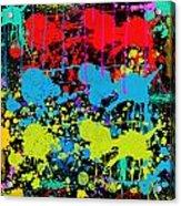Paint Splatter - Black Acrylic Print