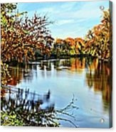 Painted Autumn River Acrylic Print