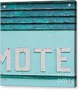 Painted Blue-green Historic Motel Facade Siding Acrylic Print