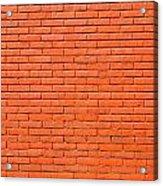 Painted Brick Wall Acrylic Print