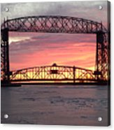 Painted Bridge Acrylic Print