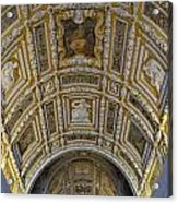 Painted Ceiling Of Staircase In Doges Palace Acrylic Print by Sami Sarkis