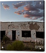 Painted Desert Trading Post At Sunset Acrylic Print