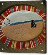 Painted Dish Acrylic Print