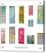Painted Doors And Window Panes Acrylic Print