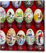 Painted Eggs In China Market Acrylic Print