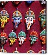 Painted Elephant Souvenirs In Kathmandu Acrylic Print