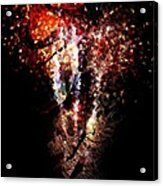 Painted Fireworks Acrylic Print