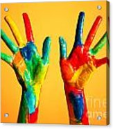 Painted Hands Acrylic Print