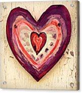 Painted Heart Acrylic Print