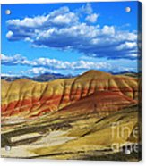 Painted Hills Blue Sky 3 Acrylic Print