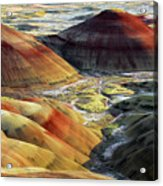 Painted Hills, Sunset, John Day Fossil Acrylic Print