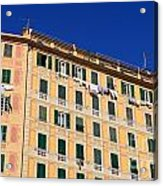 painted homes in Camogli Acrylic Print
