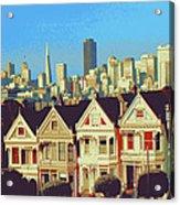 Alamo Square San Francisco - Digital Art Acrylic Print