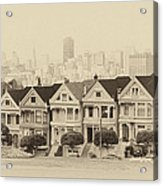 Painted Ladies At Alamo Square Acrylic Print