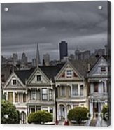 Painted Ladies Ready For The Rain Acrylic Print