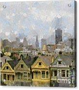 Painted Ladies - San Francisco Acrylic Print
