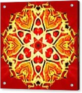 Painted Lotus Xi Acrylic Print