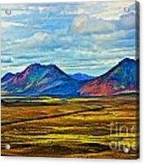 Painted Mountain Acrylic Print