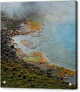 Painted Pool Of Yellowstone Acrylic Print