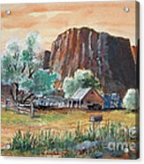 Painted Ranch Acrylic Print
