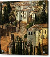 Painted Ronda. Spain Acrylic Print by Jenny Rainbow