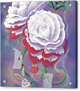 Painted Roses For Wonderland's Heartless Queen Acrylic Print