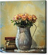 Painted Roses Acrylic Print by Terry Rowe