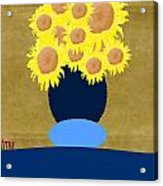 Painted Sunflowers Acrylic Print