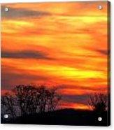 Painted Sunset Acrylic Print