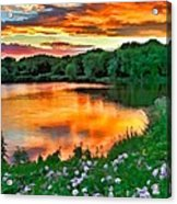 Painted Sunset Acrylic Print