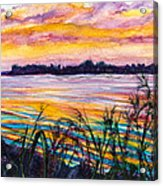 Painted Water Acrylic Print