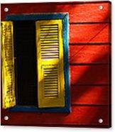 Painted Window - Mike Hope Acrylic Print