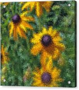 Painterly Flowers Acrylic Print