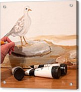 Painting A Dove Acrylic Print