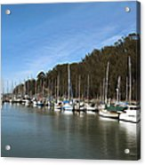 Painting Bay Side Harbor Acrylic Print