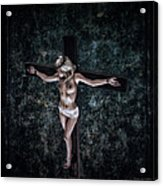 Painting Female Crucifix I Acrylic Print
