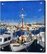 Aegina Port Acrylic Print