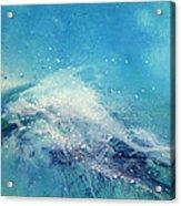Painting Of An Ocean Wave Acrylic Print