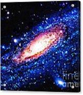 Painting Of Galaxy Acrylic Print