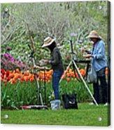 Painting Springtime  Acrylic Print