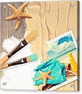 Painting Summer Postcard Acrylic Print by Amanda Elwell