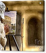 Painting The Colosseum Acrylic Print by Stefano Senise