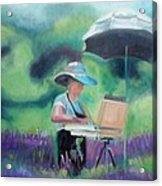 Painting The Lavender Fields Acrylic Print