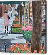 Painting The New York Street Acrylic Print
